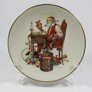 Rare 1979 Gorman Fine China Christmas Santa Plate